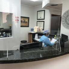Corona-Guard-CNC-Miami-Dentist-office-law-lawyers-front desk-essential-bussiness-protection-covid-19-coronavirus-shield-countertop-hanging-doctors-cough guard sneeze desktop standalone counter